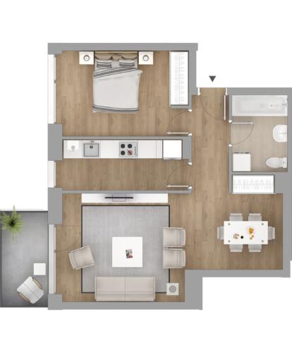 apartament 2 camere - complex rezidential Vivenda, Bucuresti
