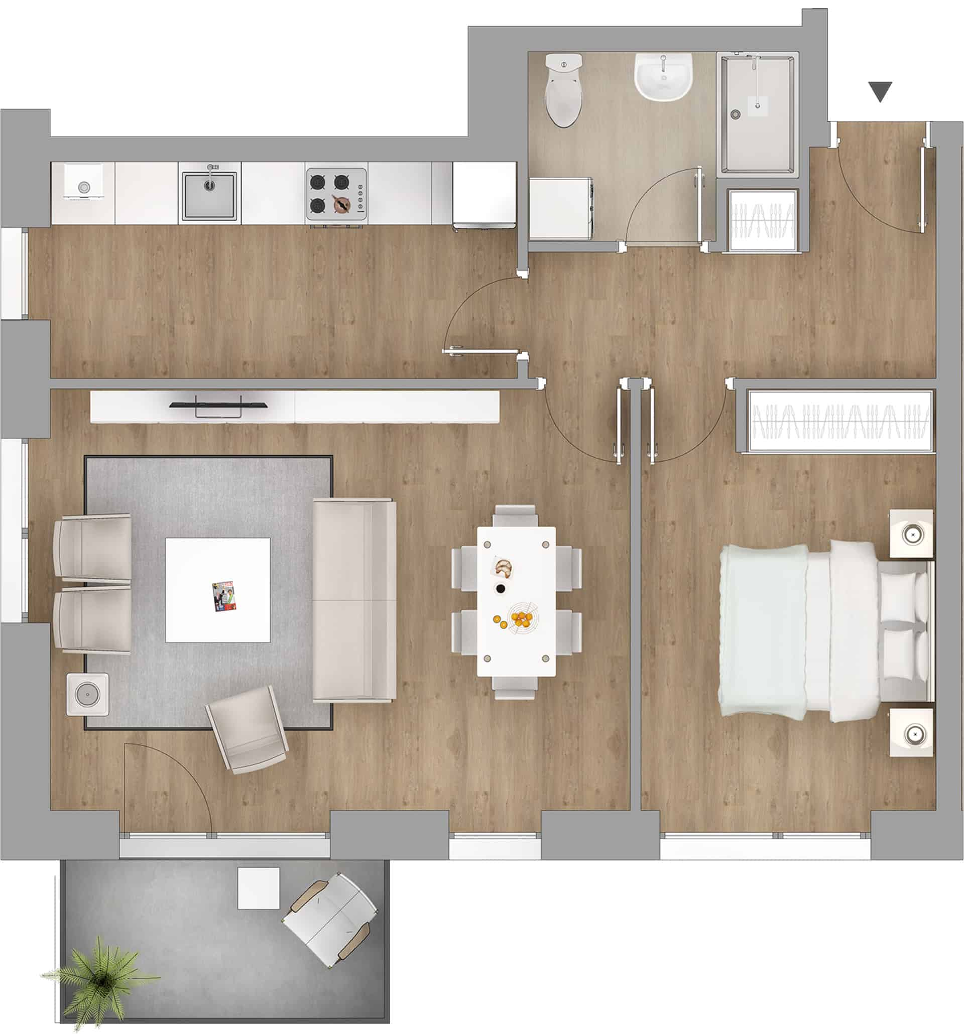 apartament nou 2 camere metrou